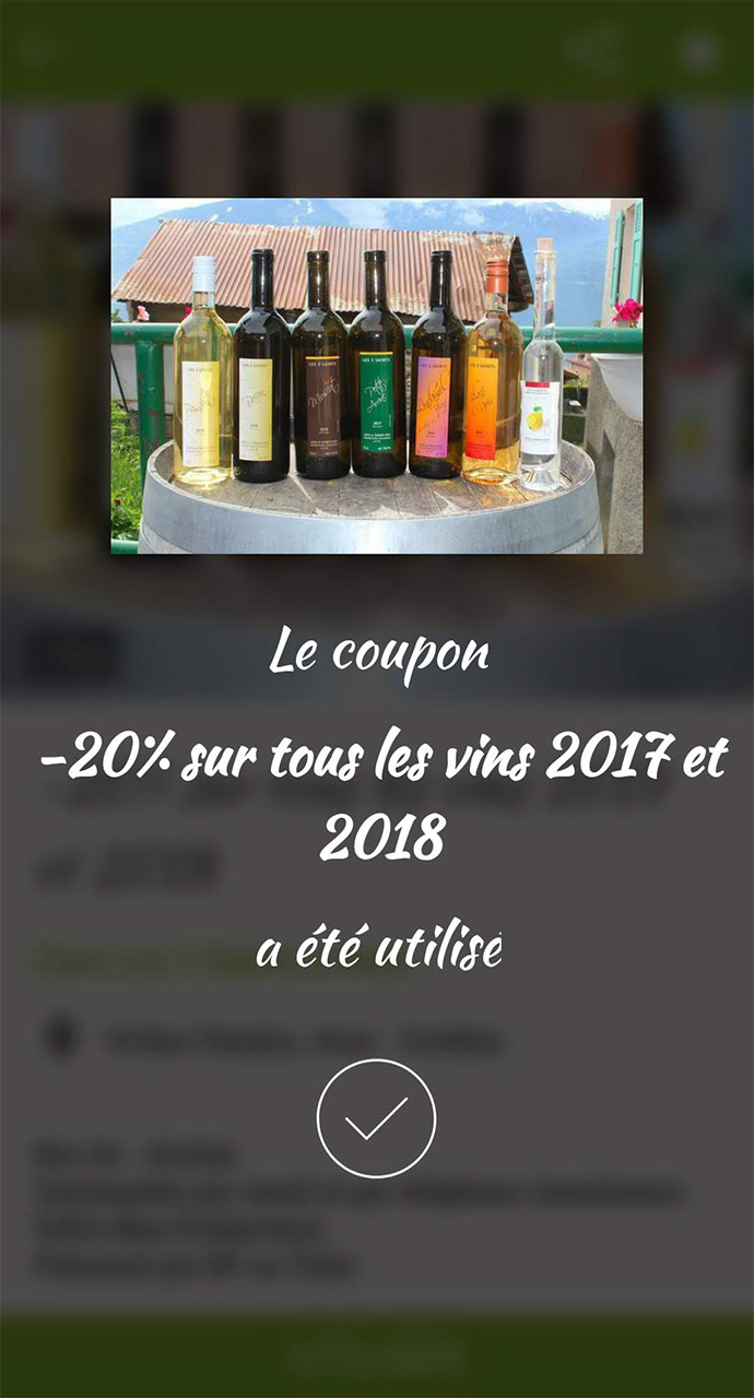 Afficher un coupon de réduction - confirmation